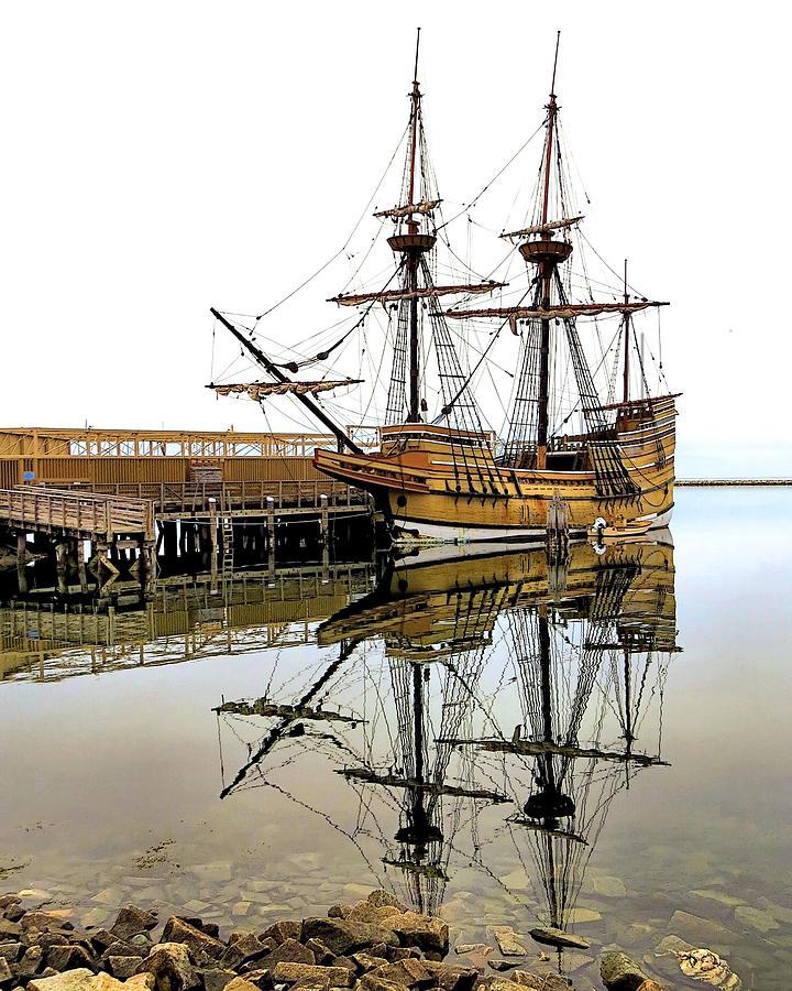 Mayflower Ii Photograph - Mayflower II Reflections by Janice Drew