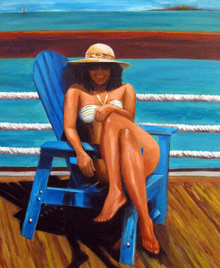 Beach Painting - Mayi Caribe - I Wish You Were Here by Patricia Awapara