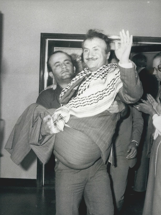 Retro Photograph - Mayor Of Israeli Occupied Nablus Arrives In London For by Retro Images Archive
