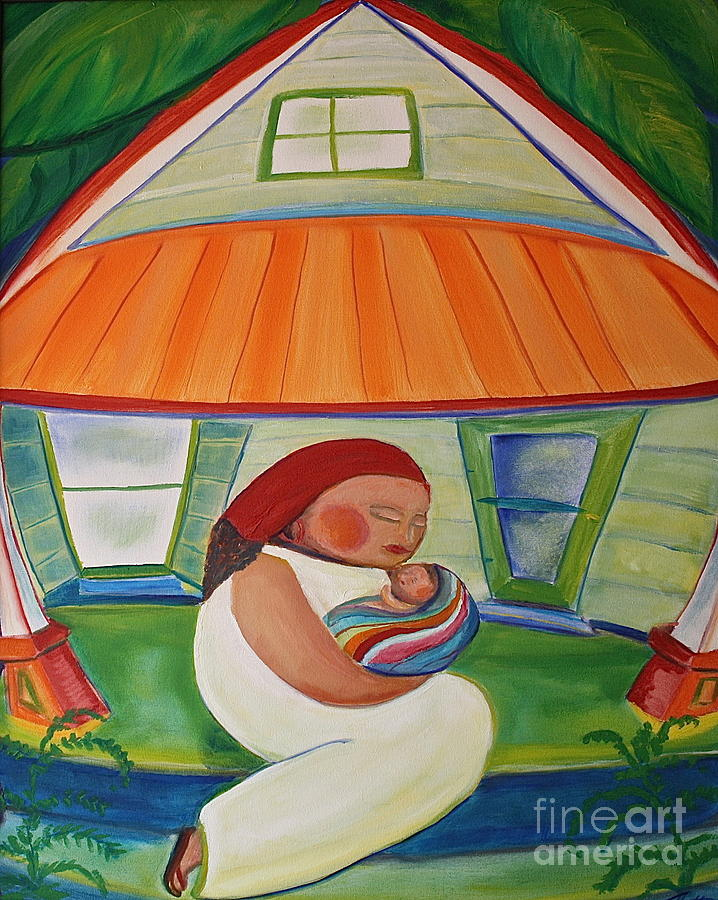 Landscape Painting - Mays Baby by Teresa Hutto