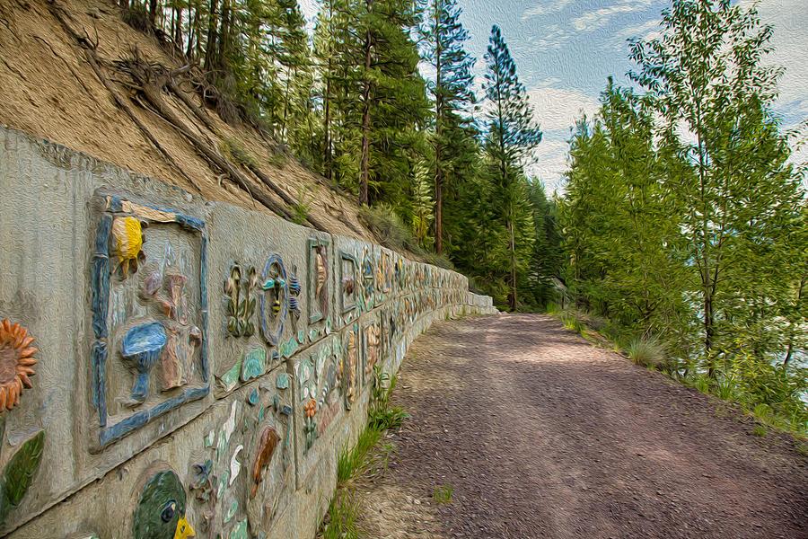 North Cascades Painting - Mazama Suspension Bridge Trail by Omaste Witkowski
