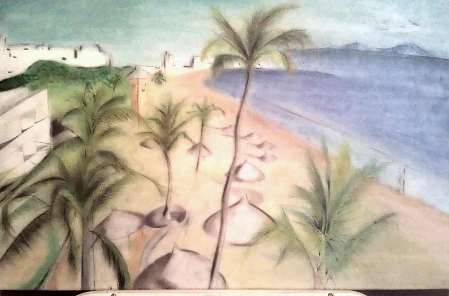 Beach Painting - Mazatlan Sinaloa by Antemio Marquez