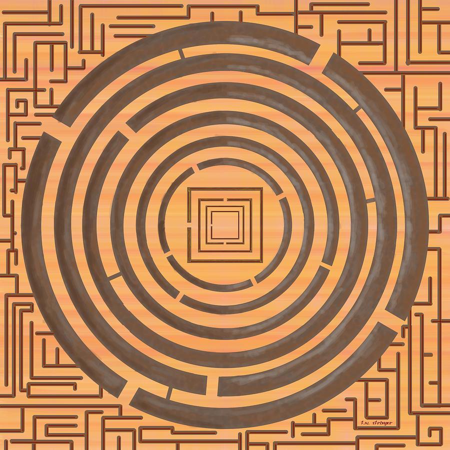 Maze Painting - Maze 2 by Tim Stringer