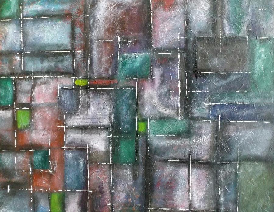 Lines Painting - Maze by Nicholas Juhl