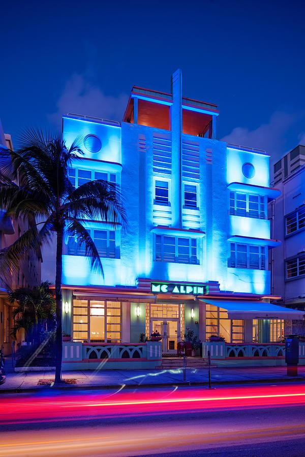 Mcalpin Hotel At Dawn Art Deco South Beach Miami Beach
