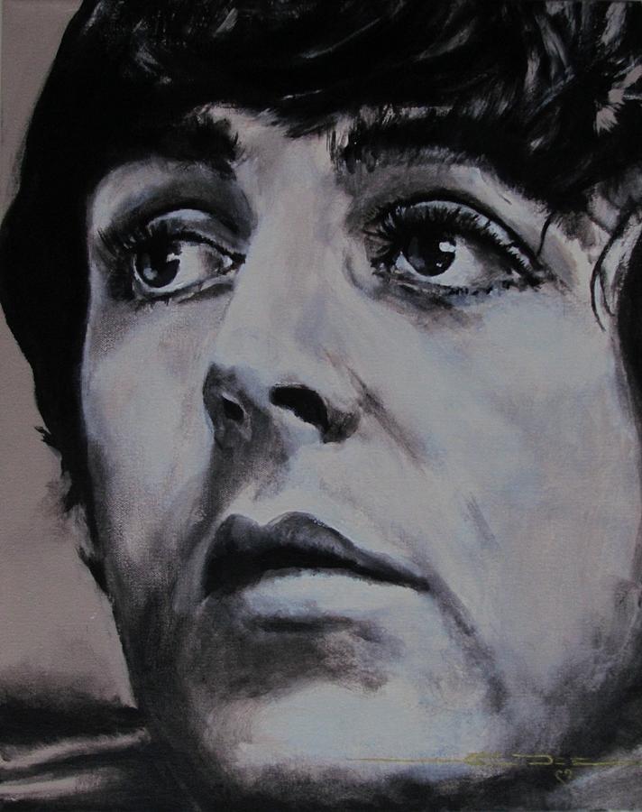 Paul Mccartney Painting - Mccartneys Eyes by Eric Dee