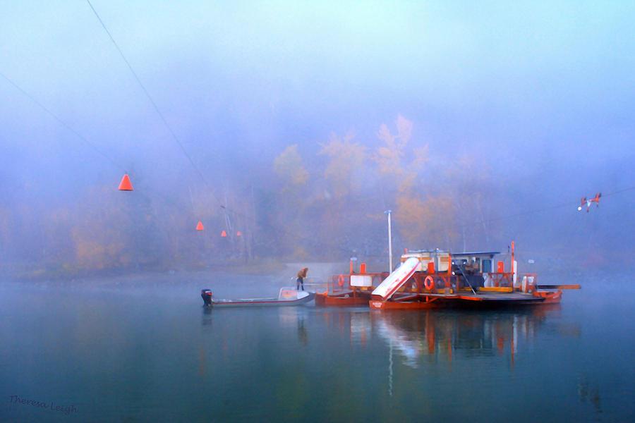 Beautiful British Columbia Photograph - Mcclure Ferry by Theresa Tahara