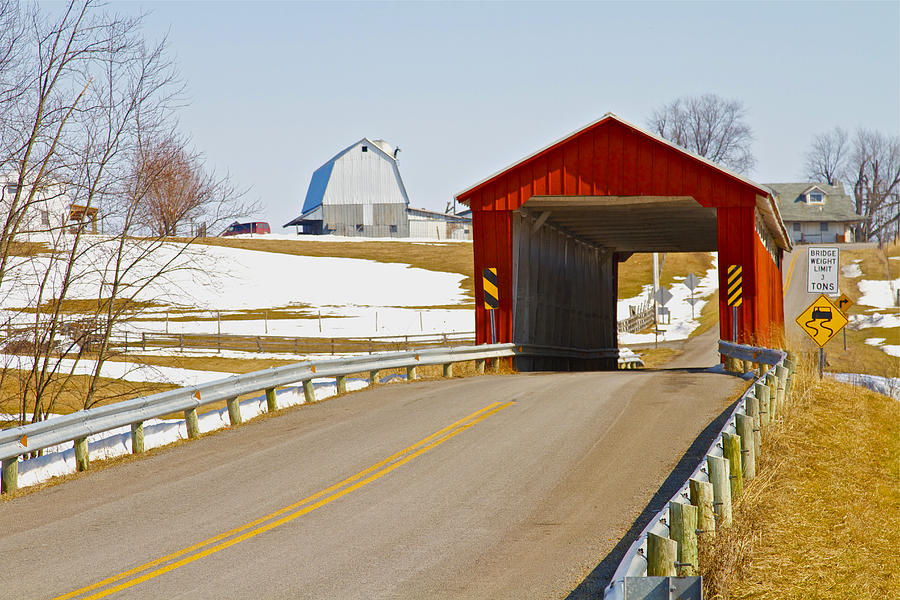 Ohio Photograph - Mccolly Covered Bridge by Jack R Perry