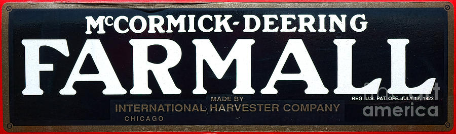 Farmall Wall Decals : Mccormick deering farmall photograph by olivier le queinec