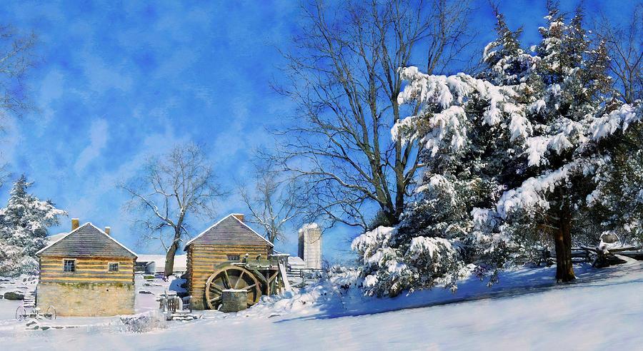 Cyrus Mccormick Photograph - Mccormicks Farm February 2012 Series V by Kathy Jennings