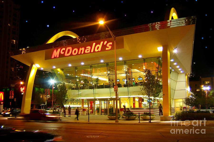 Mcdonalds Futuristic Building Photograph By Wernher Krutein