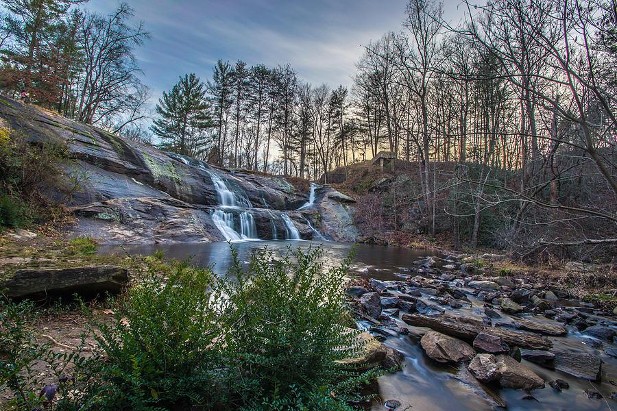 Hdr Photograph - Mcgalliard Falls Wide View by Randy Scherkenbach