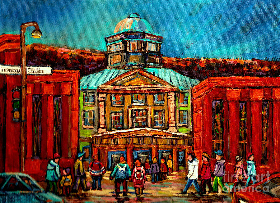Montreal Painting - Mcgill Gates Montreal by Carole Spandau