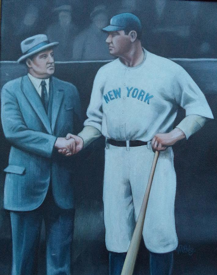 Handshake Painting - Mcgraw And Ruth by Mark Haley