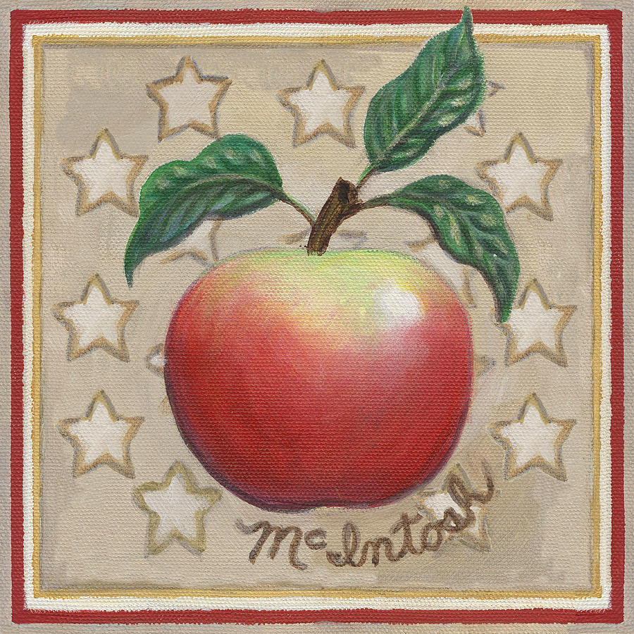 Apple Painting - Mcintosh Apple Two by Linda Mears