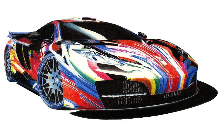 Mclaren Mixed Media - Mclaren Art Car by Lyle Brown