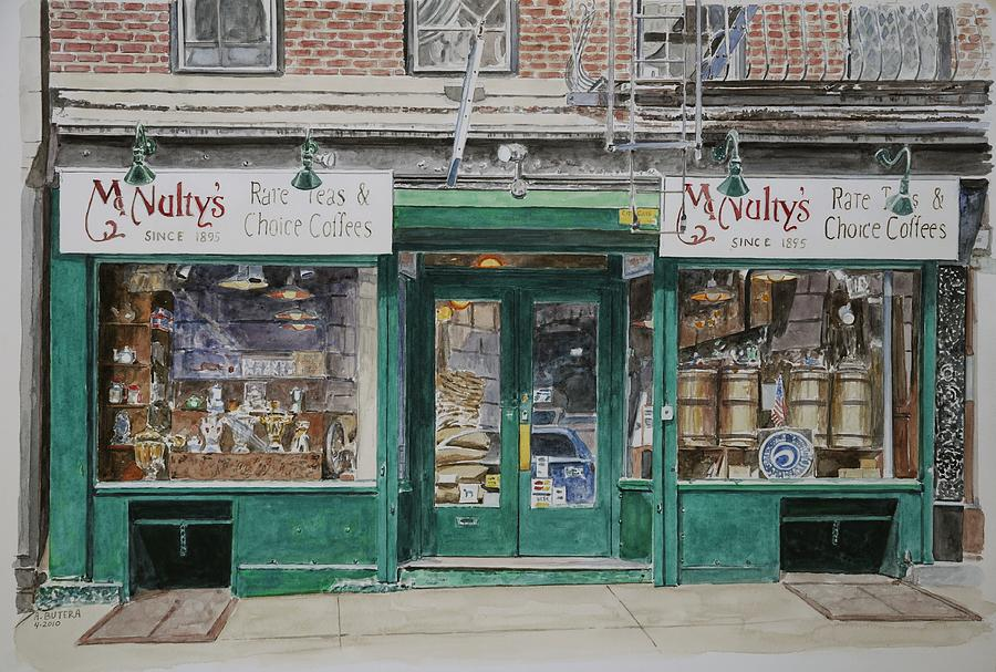 North American Painting - Mcnultys Coffee by Anthony Butera