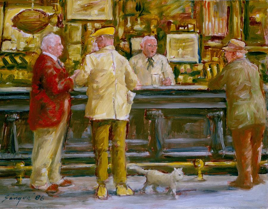 Mcsorleys New York Painting by Clyde Singer