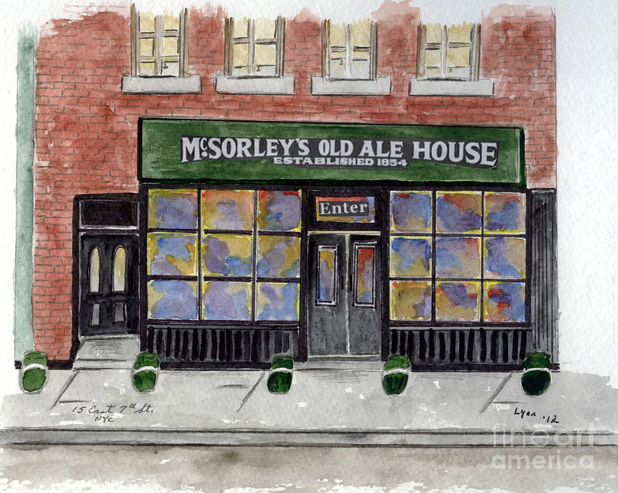 Greenwich Village Painting - Mcsorleys Old Ale House by AFineLyne