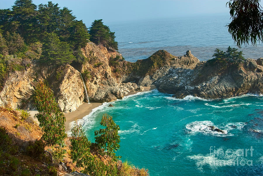 Mcway Falls Photograph - Mcway Falls Along The Big Sur Coast. by Jamie Pham