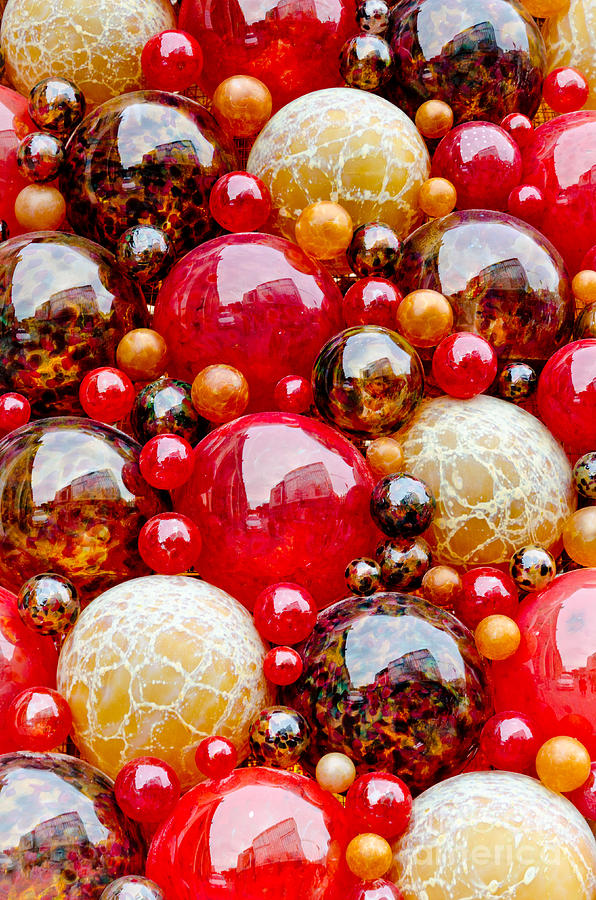 Mdina Spheres Blown Glass Balls In Valetta Malta Photograph