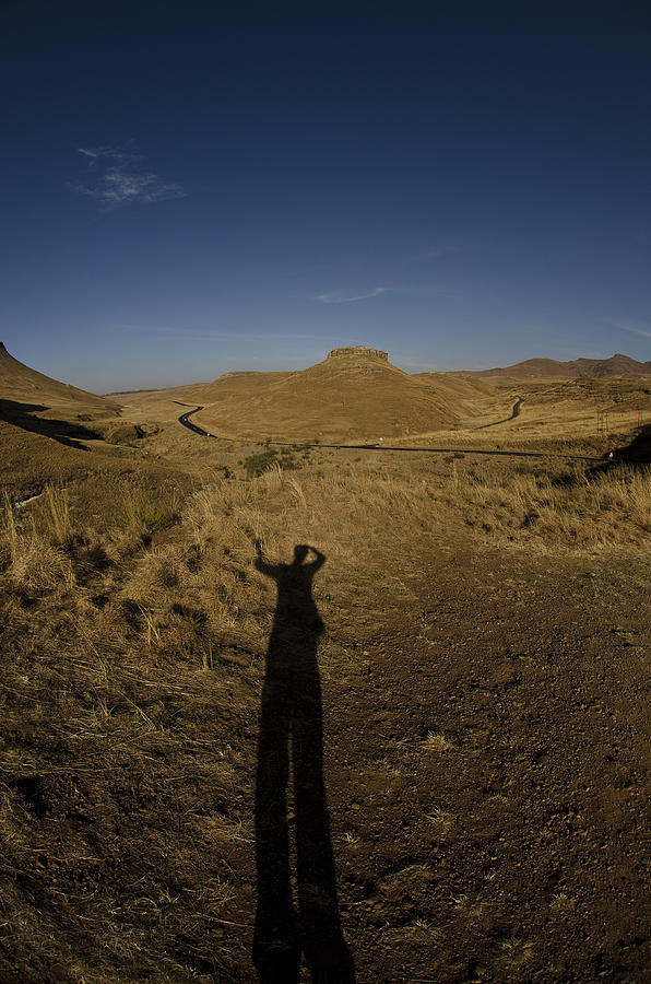 Shadow Photograph - Me And My Shadow by Aaron Bedell