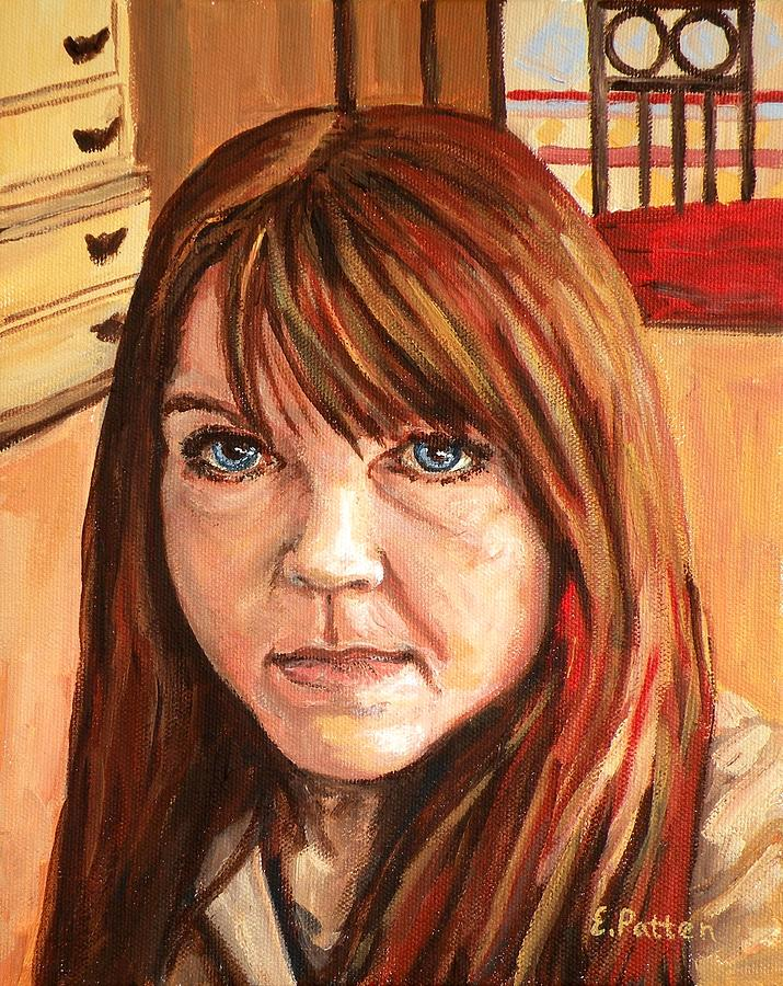 Portrait Painting - Me Myself And Eileen by Eileen Patten Oliver