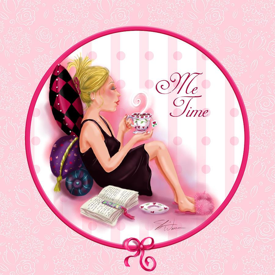 Ladies Mixed Media - Me Time by Shari Warren