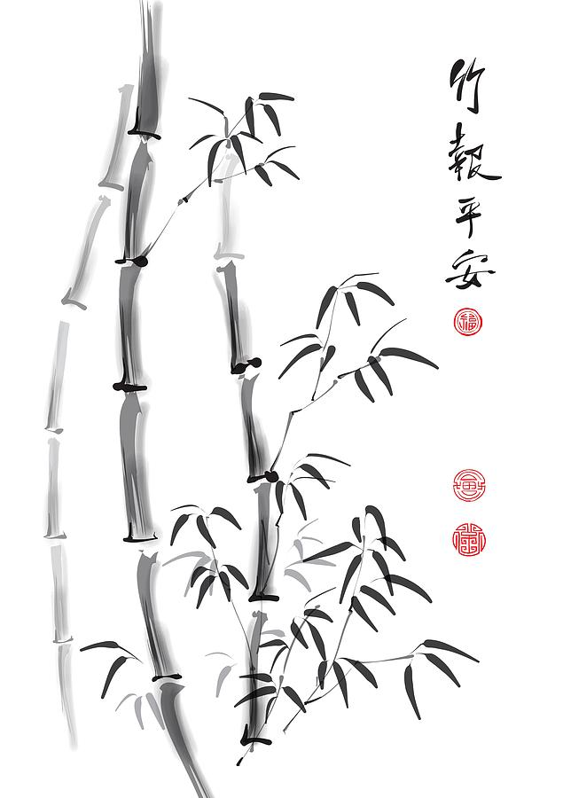 China Digital Art - Me. You. And Bamboo. by Stanley Mathis