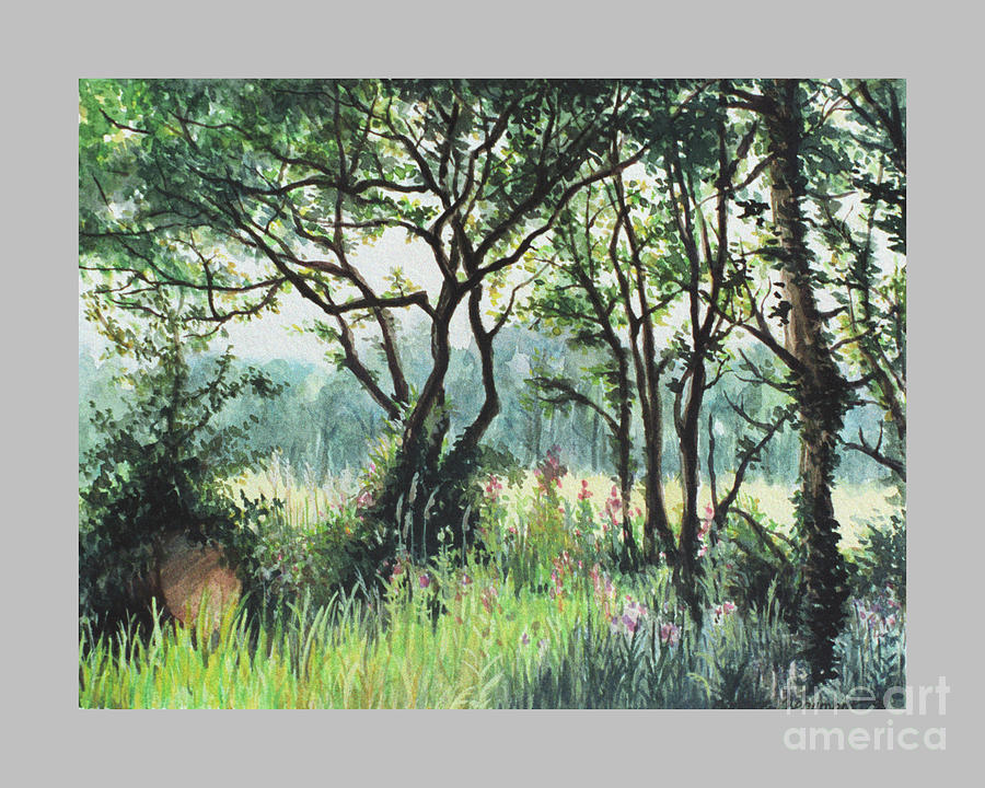Gouache Painting - Meadow by Caroline Beaumont