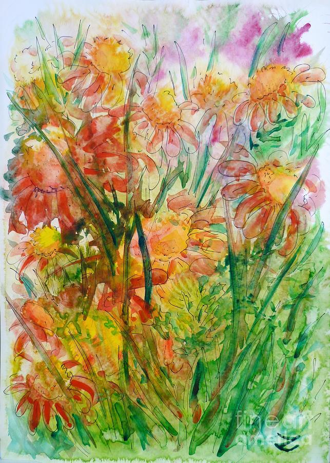 Flowers Painting - Meadow Flowers by Zaira Dzhaubaeva