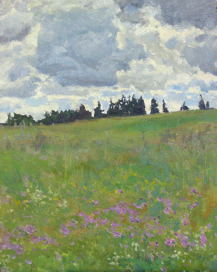 Meadow Painting - Meadow Is Blooming by Victoria Kharchenko