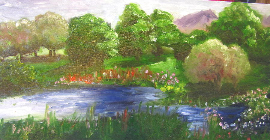 Nature Painting - Meadow by Jenell Richards