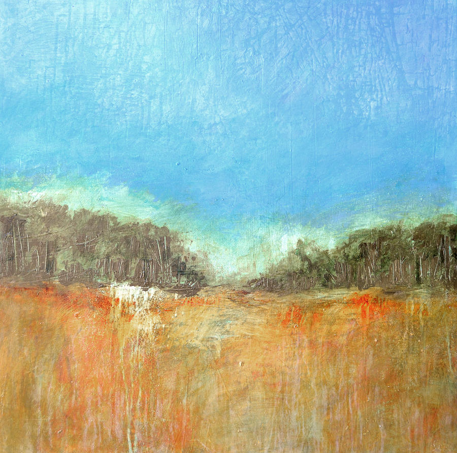 Abstract Painting - Meadow Morn by Filomena Booth