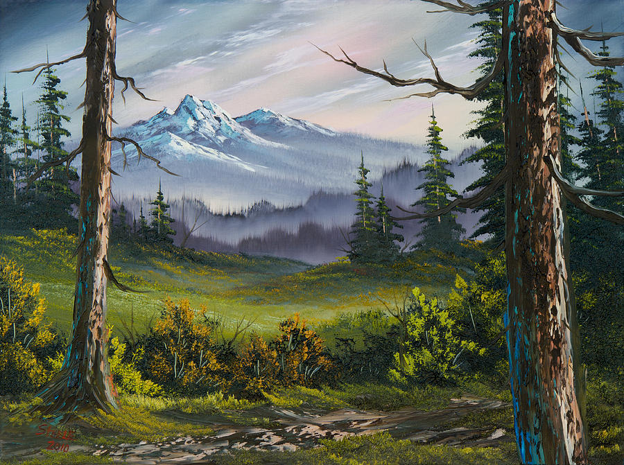 Landscape Painting - Meadow View by C Steele