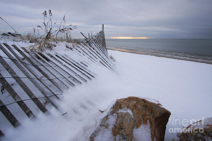 Meanauhant Beach Snow 020409 by Gene  Marchand