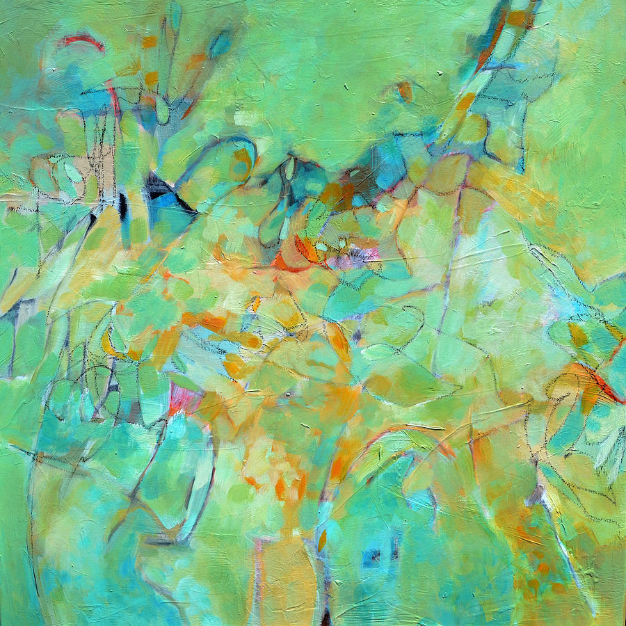 Abstract Painting - Meandering by Filomena Booth
