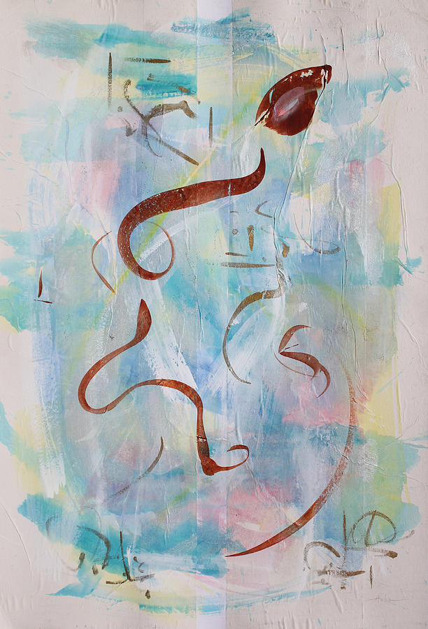 Abstract Painting Painting - Meandering In The Light by Asha Carolyn Young