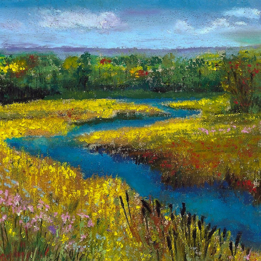 Stream Painting - Meandering Stream by David Patterson