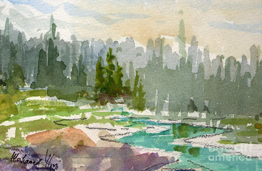 Background Painting - Meandering Stream by Mohamed Hirji