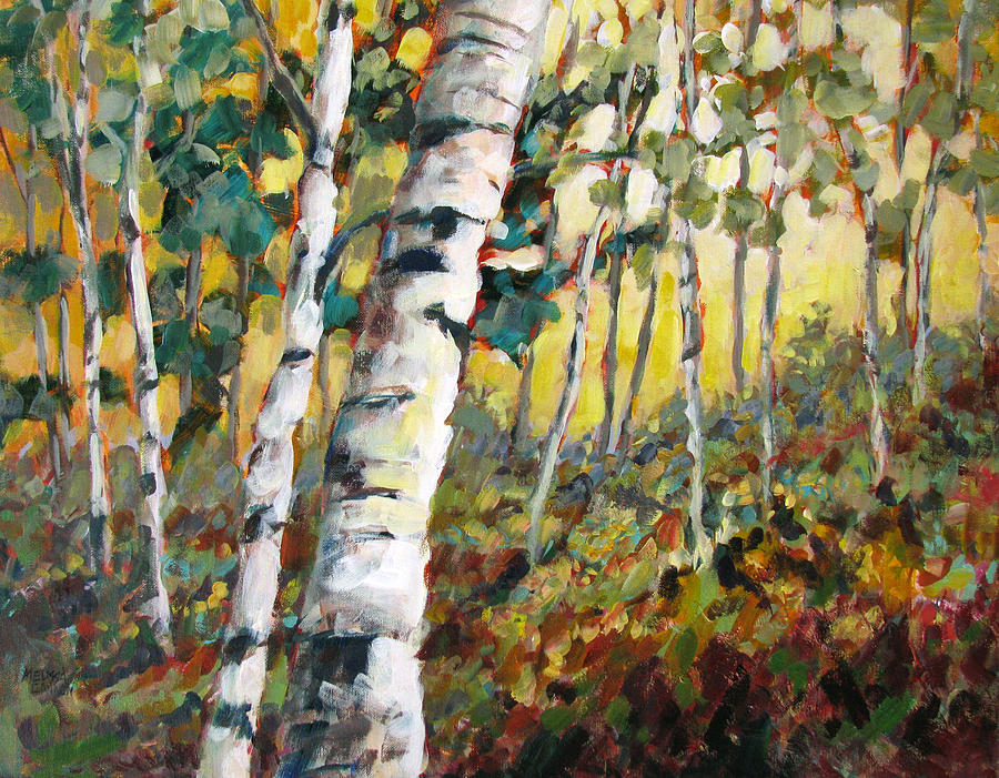 Trees Painting - Meandering Woods by Melissa Gannon