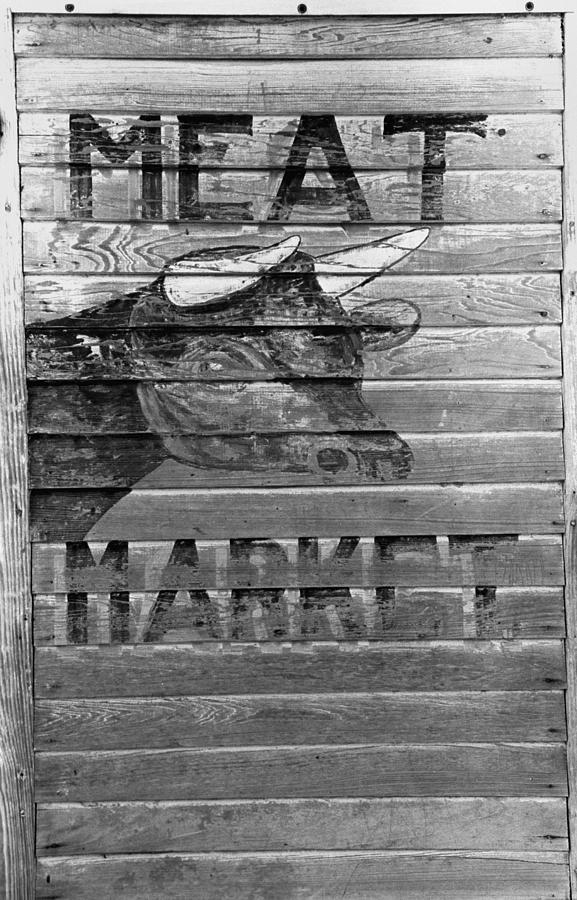 1938 Photograph - Meat Market, 1938 by Granger