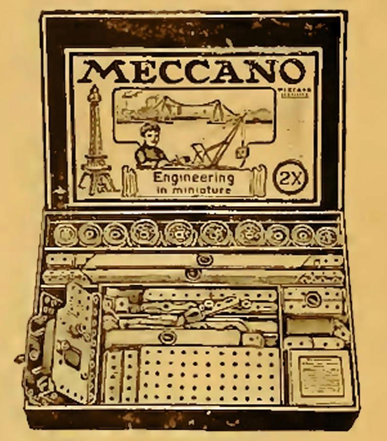 Meccano Steampunk Engineering Mixed Media