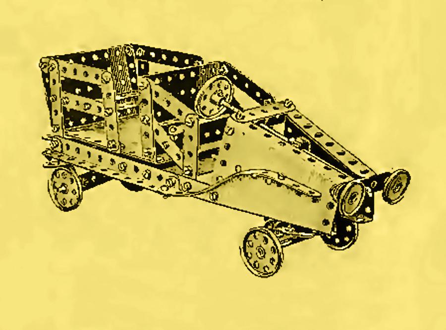 Meccano Steampunk Motorcar Coupe Mixed Media