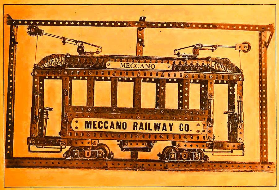 Meccano Steampunk Prize Model Tram Car Photograph