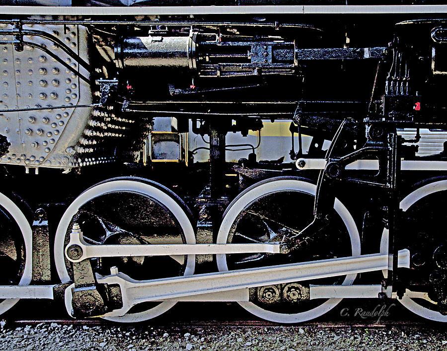 Train Photograph - Mechanical Advantage by Cheri Randolph