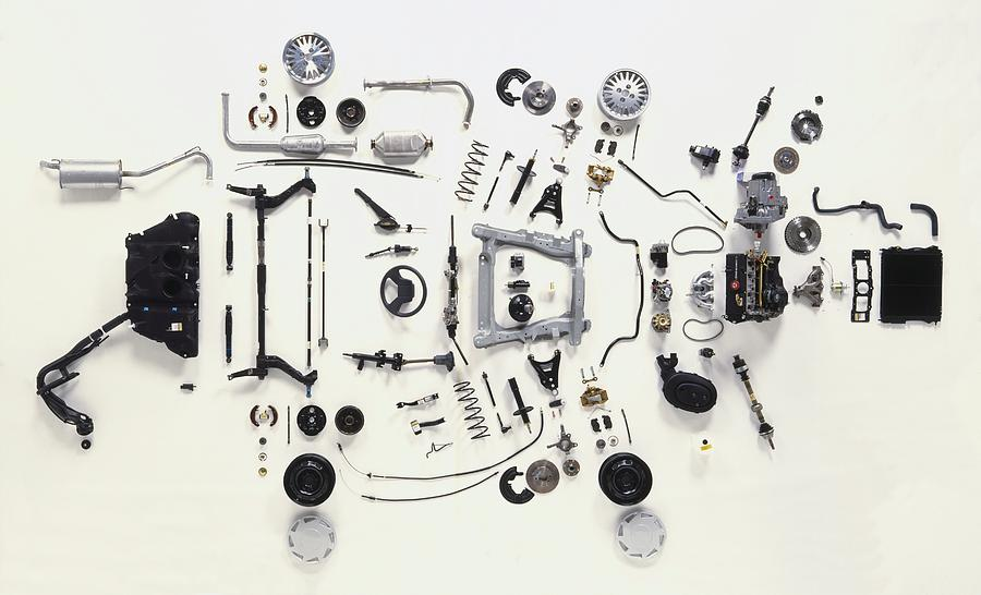 Car Parts Photograph - Mechanical Components by Dorling Kindersley/uig