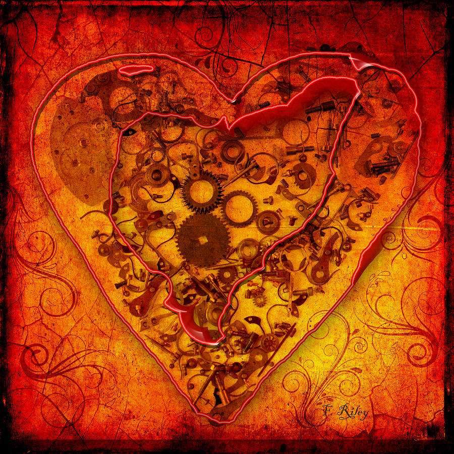 Heart Digital Art - Mechanical - Heart by Fran Riley