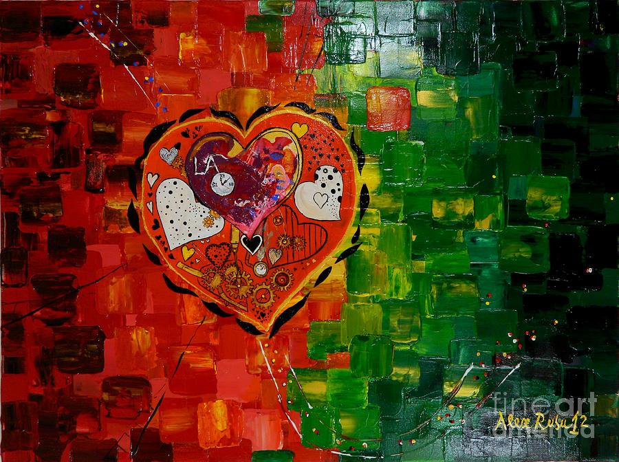 Painting Painting - Mechanism Of Love by Alexandru Rusu