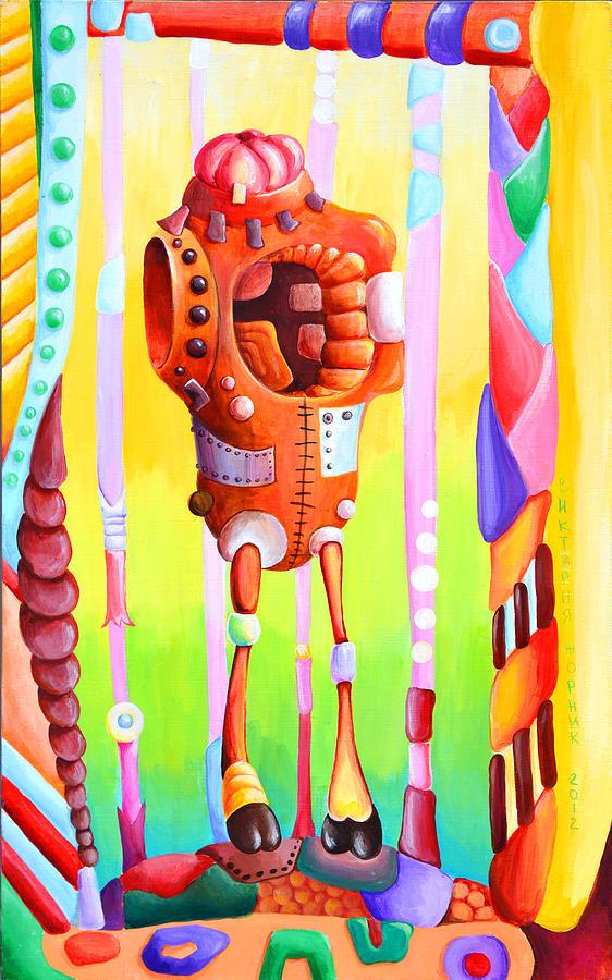 Machines Painting - Mechanism by Victoria Zhornik